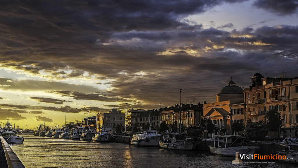 The fishing village of Fiumicino