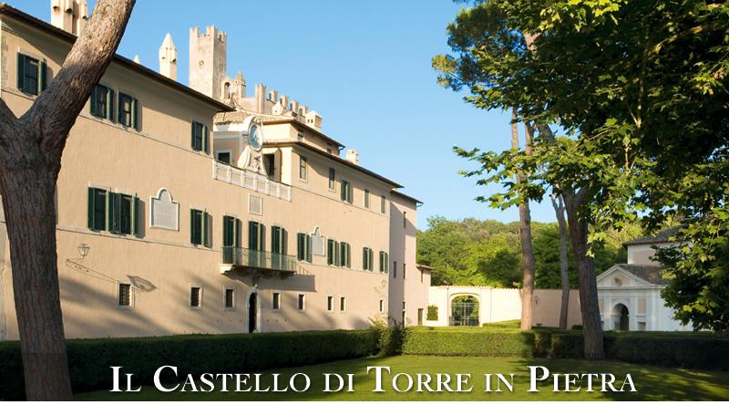 L'affascinante esterno del castello (tratto da http://www.castelloditorreinpietra.it)